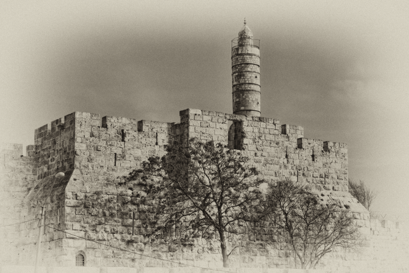 Tower of David old photo